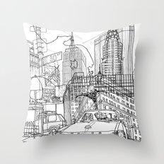 New York! B&W Throw Pillow