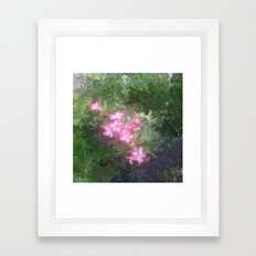 Pretty Love Flowers Framed Art Print