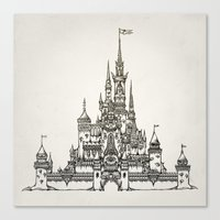 Castle Of Dreams S/w Canvas Print