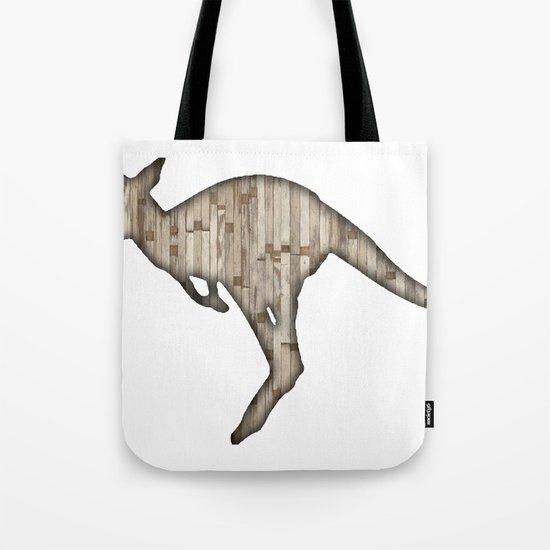 wooden kangaroo Tote Bag