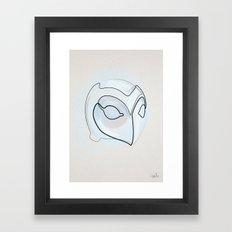 One line Phantom of the Paradise Helmet Framed Art Print