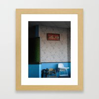 waiting on the lunch crowd Framed Art Print