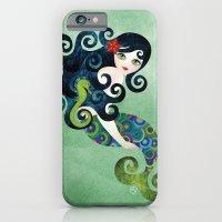 iPhone & iPod Case featuring Aquamarine Mermaid by Sandra Vargas