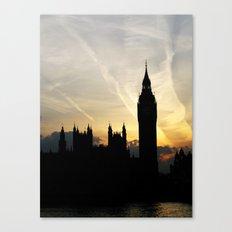 London - Big Ben Sunset Canvas Print