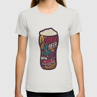 A Pint Of Beer A Day. Ke… Womens Fitted Tee Silver SMALL