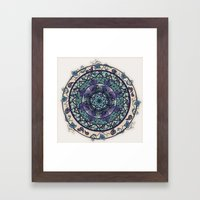 Morning Mist Mandala Framed Art Print