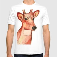 Master Deer Mens Fitted Tee White SMALL