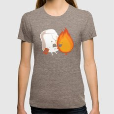 Friendly Fire Womens Fitted Tee Tri-Coffee SMALL