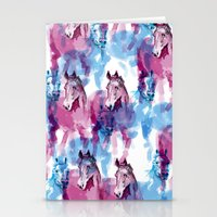 Two horses Stationery Cards