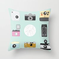 cameras Throw Pillow