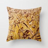 High grain image Throw Pillow