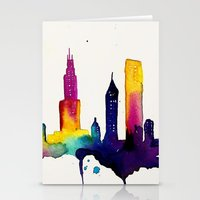 chicago Stationery Cards featuring Chicago  by Talula Christian
