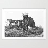 Railroad Bridge Over the Missouri River Art Print