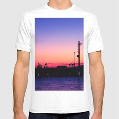 Subic Bay White SMALL Mens Fitted Tee