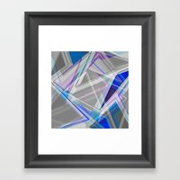 ∆Blue Framed Art Print