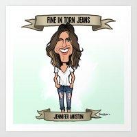 Fine In Torn Jeans (Jenn… Art Print