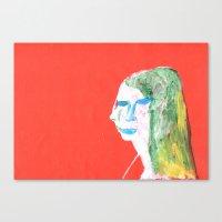 Helga in profile in full face Canvas Print
