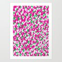 Love hearts Art Print