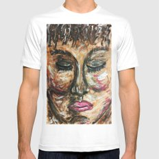 COTE D'IVORIENNE Mens Fitted Tee SMALL White