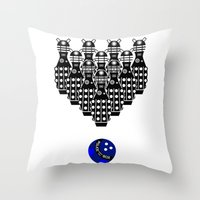 Time for Bowling. Doctor Who. Throw Pillow