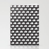 Elephants in love Stationery Cards