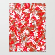 Lovely Leaf Pattern Canvas Print
