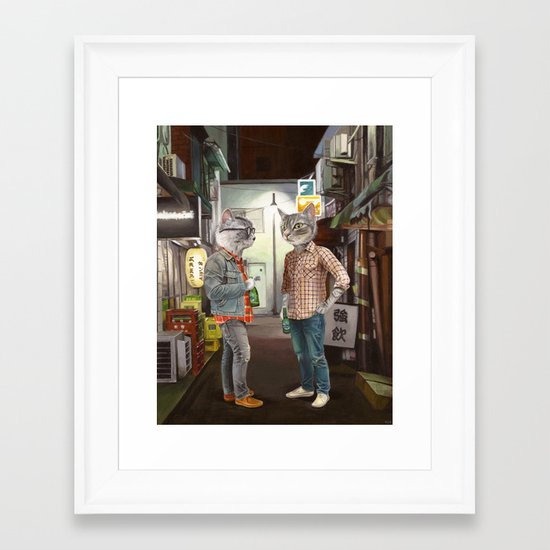 A Cats Night Out Framed Art Print