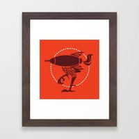 atomic chicken Framed Art Print