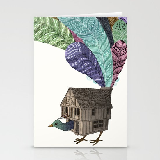 birdhouse revisited Stationery Card