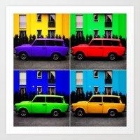 Eastern Germany Car - Trabant 601s Art Print
