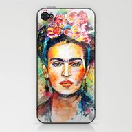 iPhone & iPod Skin featuring Frida Kahlo by Tracie Andrews