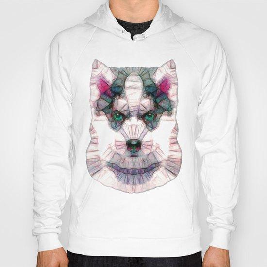 abstract husky puppy Hoody