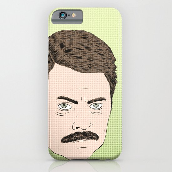 Ron Swanson iPhone & iPod Case