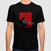 MILES / DAVIS [A Kind of Red][by felixx / 2016] Mens Fitted Tee Black SMALL