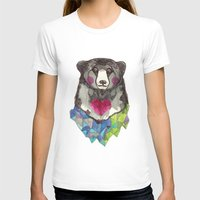 Bear Yeah Womens Fitted Tee White SMALL