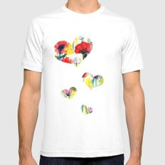 Poppy Floral SMALL White Mens Fitted Tee