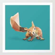Squirrel. Art Print