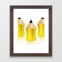 Stylized Pencil Artwork (Vector) Framed Art Print