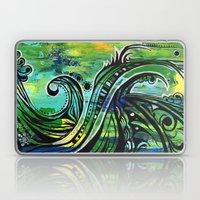 green and blue Laptop & iPad Skin