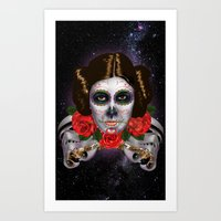 Leia de los Muertos Art Print