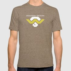 Sig Weav Mens Fitted Tee Tri-Coffee SMALL