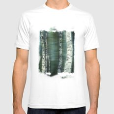 birch trees SMALL White Mens Fitted Tee