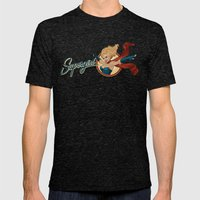 Supergirl Bombshell Mens Fitted Tee Tri-Black SMALL