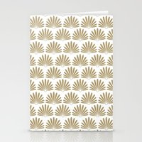 White & Tan Daisies Stationery Cards