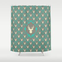 Oh Deer (white) Shower Curtain