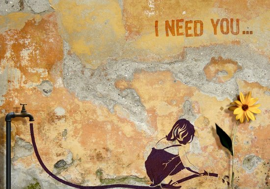 I need you Canvas Print