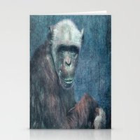 Blue Monkey Stationery Cards