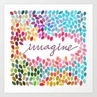 Imagine By Anna Carol & … Art Print