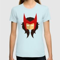 Scarlet Witch Womens Fitted Tee Light Blue SMALL