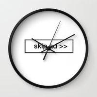 pillow skip ad Wall Clock